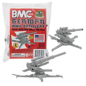 BMC Marx Recast BATTLEGROUND WW2 German 88mm Field Artillery Plastic Army MEN