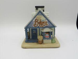 Partylite Village Bakery House Cottage Tealight candle holder Christmas decor