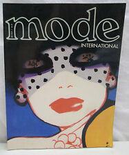 Mode International Magazine October 1978 Cover Art Gruau