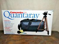 Quantaray Camcorder Tripod, Padded Camera Bag & Lens Cleaning Kit