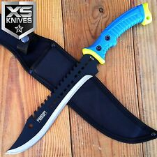 """16"""" Full Tang RAMBO Tactical Hunting Survival MACHETE Knife with Rubber Handle"""