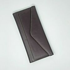 Buxton Genuine Brown Leather 64 Business Card Holder Magnetic Closure