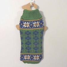 SMALL dog SWEATER NWT green ARGYLE S World Market NEW knit crochet christmas