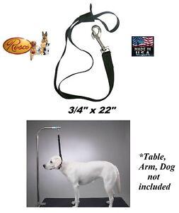 LARGE RESCO Nylon DOG Grooming Table Arm Bath Adjustable RESTRAINT NOOSE Loop