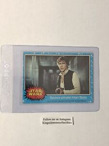 1977 Topps Star Wars 1st Series Blue #4 Space Pirate Han Solo RC! EX-MT! 🔥🔥