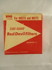 Vintage Sure-Guard Red Devil Filters R90 51130 - 5 Filters