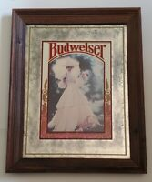 Vintage Rare Brytone Mechanical Mirror Works NY Anheuser-Busch Budweiser Girl