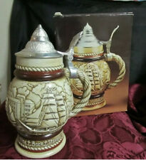 Vintage 1977 Avon Tall Ships Ceramic Stein, Mens Cologne Container No Cologne B6