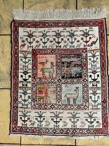 flat weave rug antique vintage mat carpet