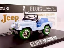 "1963 jeep cj5 azul claro elvis ""Cowboy-melodía""/GreenLight Green Machine 1:43"