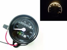 Black Retro Vintage Motorcycle Odometer Speedometer Gauge Cafe Racer Cruiser CB