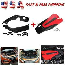 Auto Engine Cover Leaf Plate Cover ABS For 2016-2020 10TH Gen Honda Civic Accord