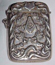 HTF Decorative Grand Mason Sterling Silver Match Holder Safe Masonic Freemasonry