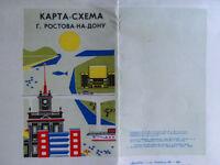1971 ROSTOV Transport Map Scheme Plan Streets Travel Tourist Russian Soviet USSR