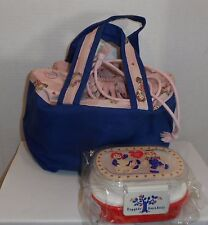 Raggedy Ann Andy Bento Lunch Box Picnic Food Container Storage with Lunch Bag