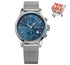 NEW Hugo Boss 1513441 Gent's Jet Stainless Steel Mesh Strap Chronograph Watch UK