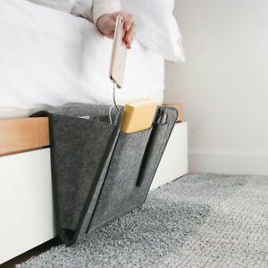 Felt Bedside Storage Organizer Caddy Bed Tidy Pocket Bag Pouch Book Laptop Phone