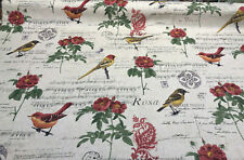 Yoko Music Notes Birds Floral Fabric By The Yard