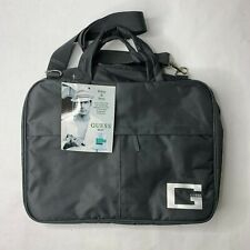 NWT Mens Guess Gray Nylon Messenger Laptop Bag New Old Stock Adjustable Strap