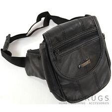 Unisex de suave cuero napa color piel Cintura Bolsa / Bum Bag / dinero cinturón