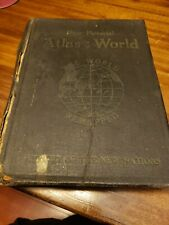 New Pictorial Atlas of the World Revised Edition 1921 Color Maps