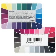 "Farbpass Winter ""Loop"" - Plastikkarte mit 44 Farben"