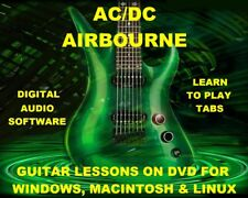 AC/DC 746 & Airbourne 134 Guitar Tabs Software Lesson CD & 109 Backing Tracks