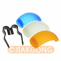 3 color Pop-Up Flash Diffuser Cover kit For Canon Nikon Pentax Olympus DSLR