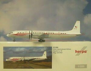 Herpa Wings 1:200 Ilyushin IL-18 CSA Czechoslovak OK-PAH 571333 Modellairport500