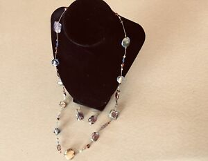 MARCO POLO MURANO GLASS NECKLACE and EARRINGS