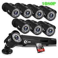 XVIM 1080P HDMI 8CH / 4CH DVR IR CUT 2MP HD CCTV Security Camera System 1TB US