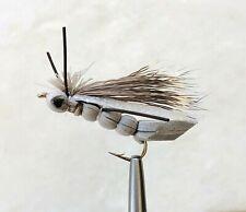 CHARLIE BOY HOPPER SILVER DRY FLY FISHING TERRESTRIAL FLIES  SIZE #8 X 5 FLIES