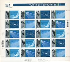 US: 2001 WINTER SPORTS; Sheet Sc 3552-55; 34 Cents Values, Hockey Skiing Skating