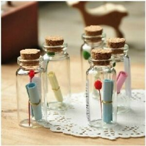 50Pcs 0.5ml Cute Mini Small Tiny Empty Containers Jars Bottles Glass Cork with c