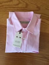Brand New Mens RM Williams Cotton Long Sleeve Slim Fit Martin Shirt Pink Size S