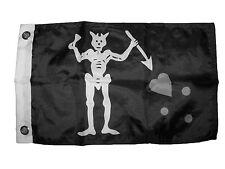 "12x18 12""x18"" Edward Teach Pirate BlackBeard Black Beard Edward Boat Car Flag"