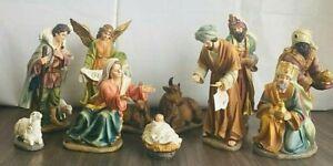 Natività Resina 25 cm completa 11 pezzi, marca Due Esse Christmas