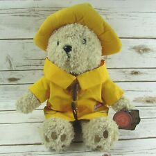 "Paddington Bear Yellow Raincoat Hat 17"" Plush Teddy Bear Paddington And Co 2010"