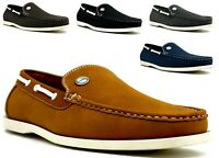 Mens Slip On Casual Boat Shoes  loafers Office Party Formal driving  UK 6-11