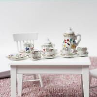 1/12 dollhouse miniature furniture mini teapot ceramic 15 pcs Home Decor Kit~