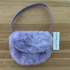 NWT JANIE AND JACK Frosted Series Purple Fuzzy Purse
