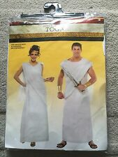 HALLOWEEN COSTUMES GOD & GODDESSES White TOGA Unisex ONE SIZE FITS ALL