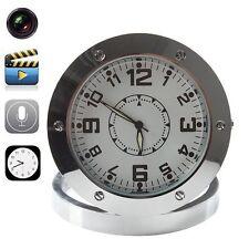 Mini Table Clock Metal Spy Camera Dvr Video Recorder Hidden Cam Desk Camcorder