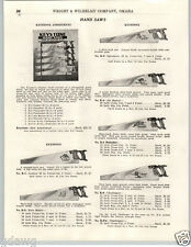 1937 PAPER AD Keystone Hand Saw Store Display Rack Stand Leader Speedster