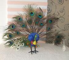 beautiful simulation peacock toy polyethylene & furs handicraft peacock 50x42cm