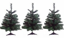 DLUX 3-Pack Artificial Charlie Canadian Pine Sturdy Tabletop 2′ Christmas Trees