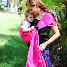 WalkAbout Baby Sling Ring Carrier Pouch Breathable Cotton Pink 5 in 1