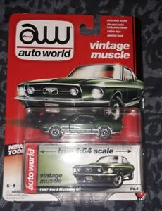 Auto World 1967 Ford Mustang GT Vintage Muscle 1:64 Scale Die Cast Car