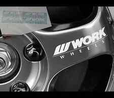4 Pics WORK WHEELS RACING JDM car vinyl Decal Sticker