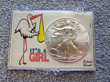 2018 American Eagle Silver Dollar & It's a Girl Case #2